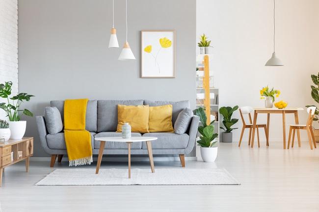 Grijze meubels