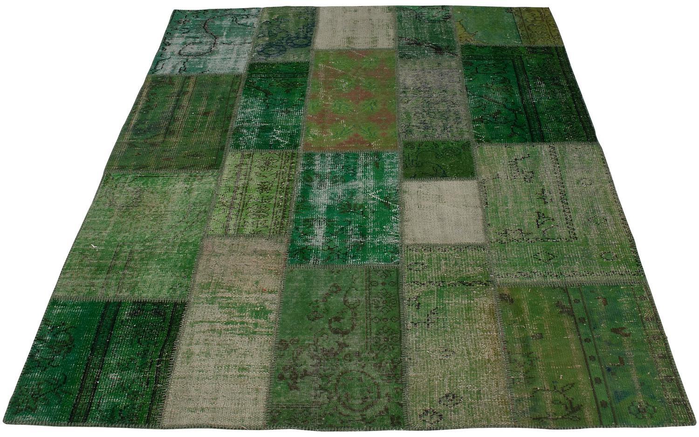 Groen vintage vloerkleed