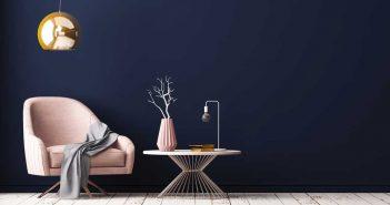 Roze en blauw in het interieur: ga voor een sterk contrast