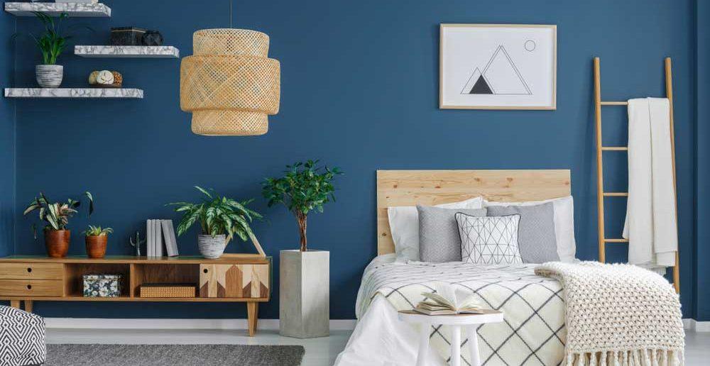 Ga voor een rustgevend effect in de slaapkamer met blauw