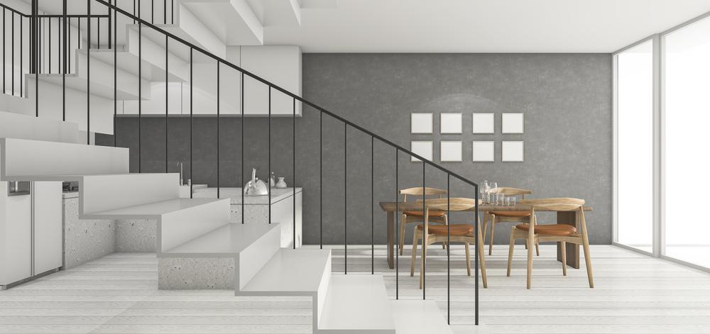 Zwevende moderne trap