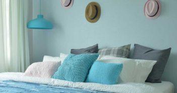Uitpakken met accentkleuren in de slaapkamer