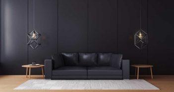 Stijlvol: een donkere lounge hoek in huis