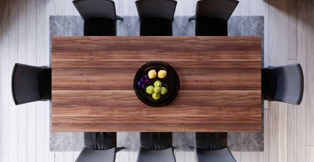 Tips voor het onderhouden van een houten eettafel