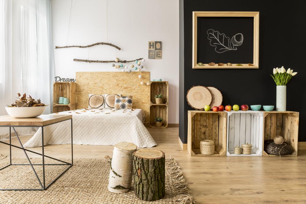 Kies voor de natuur: een boomstam in huis als accessoire