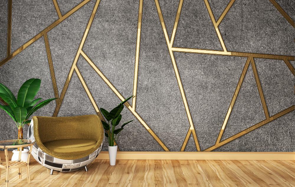 Wauw! Een gouden muur in huis