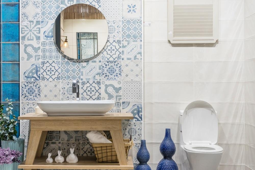 Badkamer tegels met motief