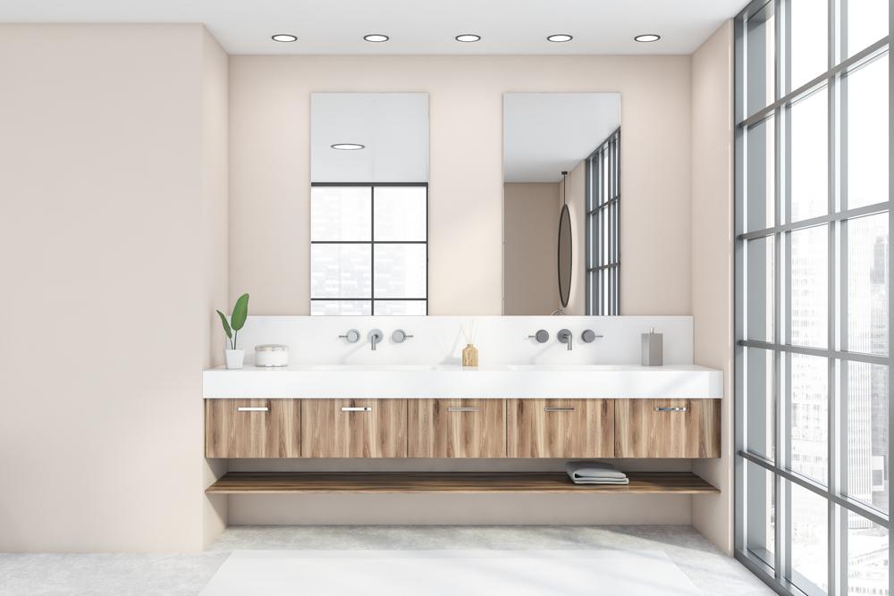 Beige in de badkamer: voorbeelden en inspiratie