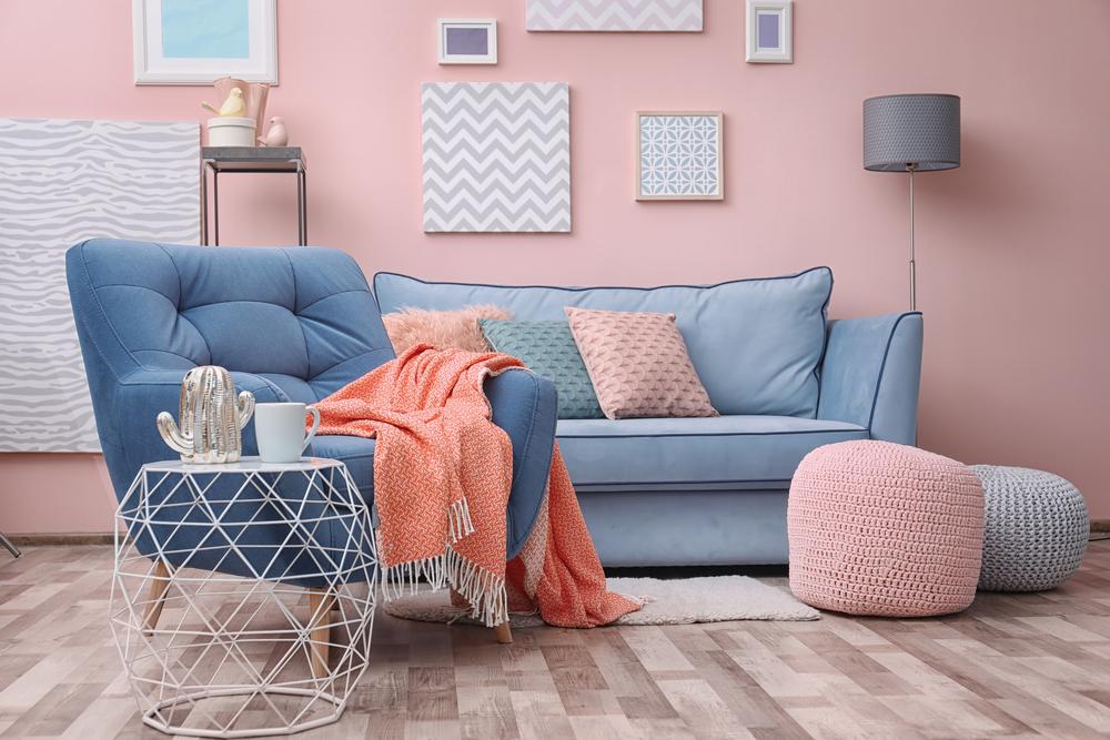 Gekleurde meubels: blauw