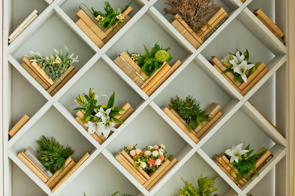 Leuke wanddecoratie met planten